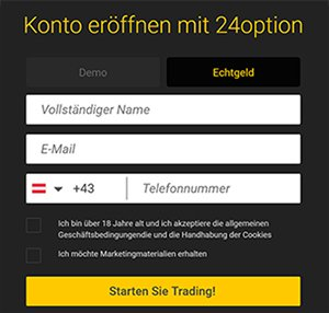 24option Registrierung