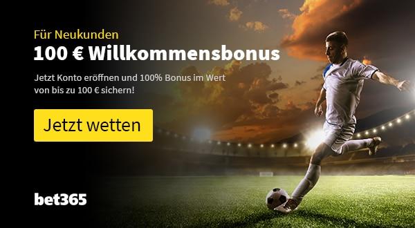 bet365 100 Euro Bonus